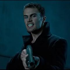David with a shotgun.
