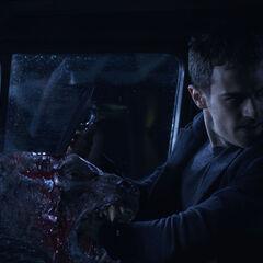 David kills a Lycan.