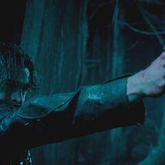 Michael fires Selene's Beretta at Marcus.
