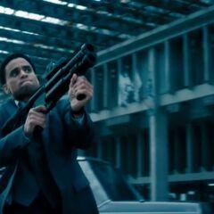 Sebastian shooting at Antigen guards.