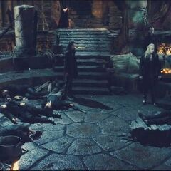 In the coven, after the attack