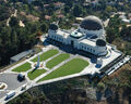 An aerial view of Griffith Observatory