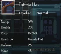 Taffeta Hat