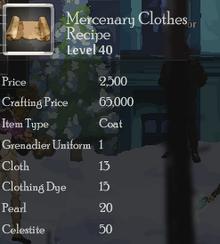 Mercenary Clothes Rec