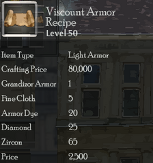 Viscount Armor Rec