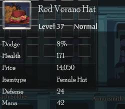 Red Verano Hat