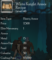 White Knight Armor Rec