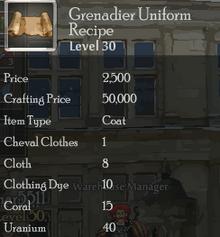 Grenadier Uniform Rec