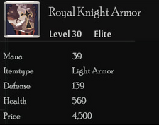 Royal Knight Armor