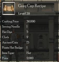 Grey Cap Recipe