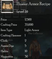 Hunter Armor Rec