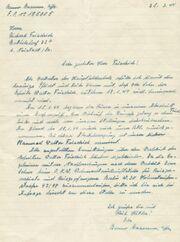 Brief Walter Friedrich