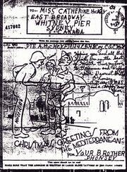Christmas Card From Alphonsus Hickey, Cape Breton Highlanders, Italy, Christmas, 1943.