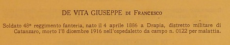 De Vita, Giuseppe di Francesco e Rombolà Saveria