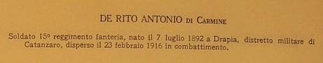 De Rito, Antonio di Carmine e de Rito Carmina