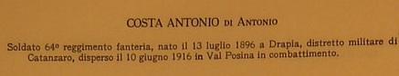 Costa, Antonio di Antonio e Naso Rosa