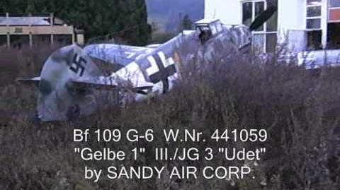 "Bf-109 G- 6 W.Nr. 441059 ""Gelbe 1"""