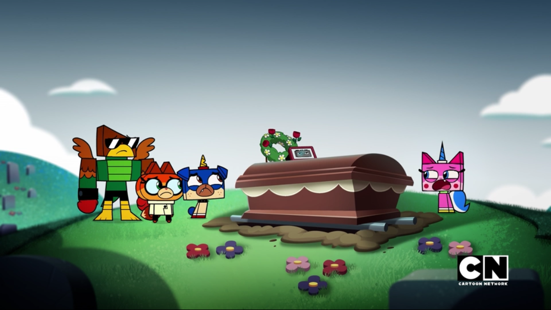 As Unikitty Apologizes For What She Has Done Puppycorn Dr Fox And Hawkodile Pay Their Fond Remembrances