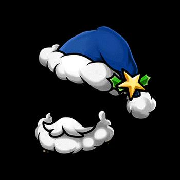 Gear-Blue Santa Hat & Beard Render