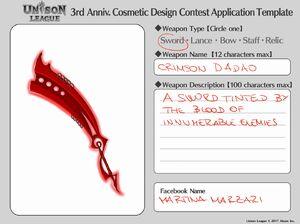 Cosmetic Design Contest-Crimson Dadao Entry