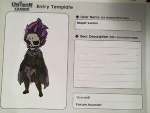Cosmetic Design Contest-Reaper's armor Entry