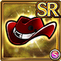 Gear-Red Ten-Gallon Hat Icon