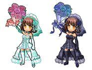 Gear-Pink Bouquet, Maria Veil Verde, Princess Dress Verde, Blue Bouquet, Maria Veil Noir, and Princess Dress Noir Illustration 001