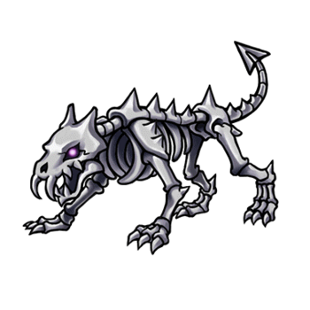 Gear-Skeleton Dog Render