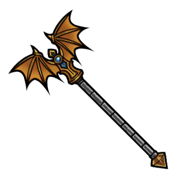 Gear-Winged Staff Render