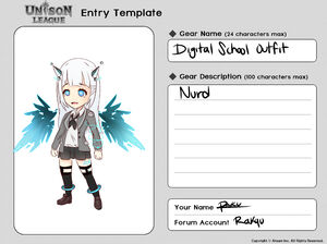 Cosmetic Design Contest-Digital School Outfit Entry