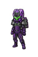 Gear-Tech Marine Helm H-E.VI and Tech Marine Suit H-E.VI Illustration 001