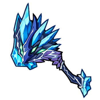 Gear-Silver Dragon Axe Render