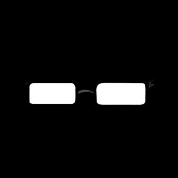 Gear-Black Thin Rim Glasses Render