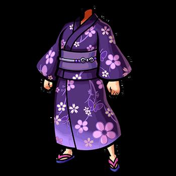 Gear-Violet Yukata Render
