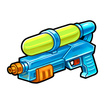 Gear-Plastic Water Pistol Render