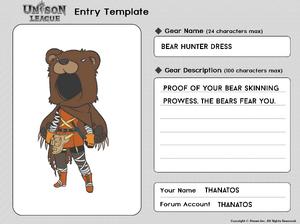 Cosmetic Design Contest-BEAR HUNTER DRESS Entry