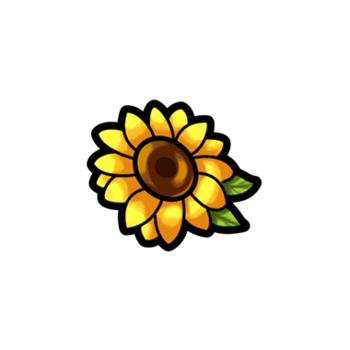 Gear-Sunflower Hair Clip Render