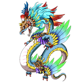 Gear-Wind God Quetzalcoatl Render