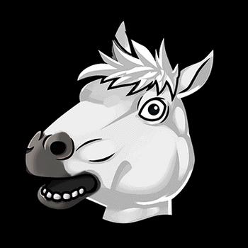 Gear-White Horse Headdress Render