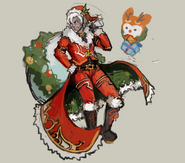 Gear-Santa and Reindeermin Rough Sketch 001
