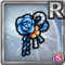 Gear-Blue Japanese Hair Clip Icon