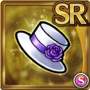Gear-Mini White Top Hat Icon