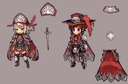 Gear-Cherufe Hat, Cherufe Dress, Cherufe Tyrolean, and Cherufe Suit Rough Sketch 001