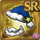 Gear-Blue Santa Hat & Beard Icon
