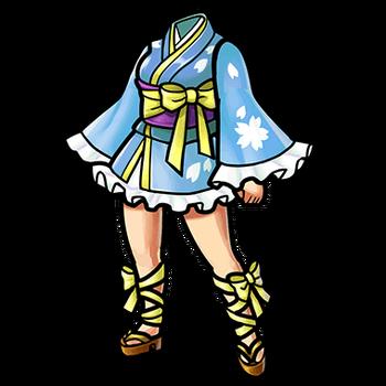 Gear-Light Blue Mini-Yukata Render
