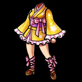 Gear-City Girl's Mini-Yukata Render