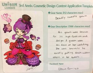 Cosmetic Design Contest-Deadly sweets gown Entry