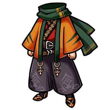 Gear-Famous Scholar's Outfit Render