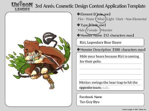 Cosmetic Design Contest-Kiri, Legendary Bear Slayer Entry