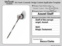 Cosmetic Design Contest-Azazel Staff Entry